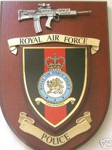 RAF Royal Air Force Police with Pewter SA80 Regimental Military Wall Plaque