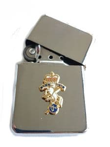 REME Chrome Plated Windproof Petrol Lighter in Gift Box