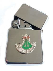 Rifles Regiment Chrome Plated Windproof Petrol Lighter in Gift Box