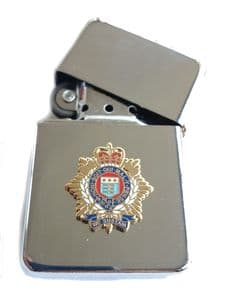 RLC Royal Logistic Corps Chrome Plated Windproof Petrol Lighter in Gift Box