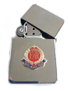 RMP Royal Military Police Chrome Plated Windproof Petrol Lighter in Gift Box
