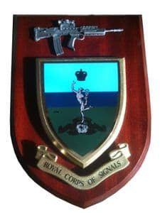 Royal Corps of Signal with Pewter SA80 Regimental Wall Plaque