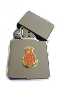 Royal Military Academy Sandhurst Chrome Plated Windproof Lighter in Gift Box