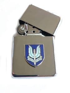 SAS Special Air Service Chrome Plated Windproof Petrol Lighter in Gift Box v2