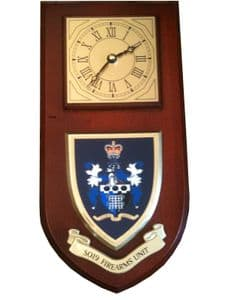 SO19 Police Fire Arms Unit Wall Plaque Clock