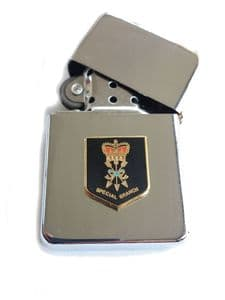 Special Branch Police Chrome Plated Windproof Petrol Lighter in Gift Box