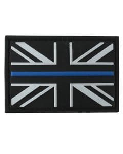 Thin Blue Line Police Badge PVC Patch