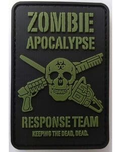 Zombie Apocalypse PCV Rubber Badge TRF Patch