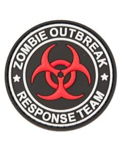 Zombie Outbreak Responce Team Military Badge PCV Rubber Moral Patch