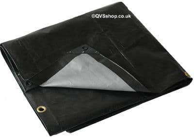 Heavy Duty Black Tarpaulin Sheets | Extra strong hemmed cover