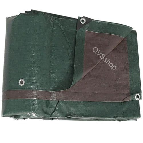 Heavy Duty Tarpaulins | Green & Brown | Boat & Roof Cover