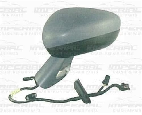 Citroen C3 N/S Electric Door Mirror Manual Fold with Primed Cover Passenger Side