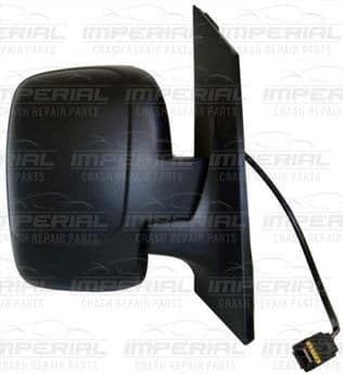 Fiat Scudo 2007 - 2016 Door Mirror Electric Heated Manual Fold Type, Black Cover (Single Glass) O/S