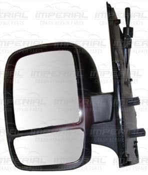 Fiat Scudo 2007 - 2016 Door Mirror Manual Type With Black Cover (Twin Glass) Near Side