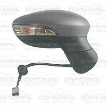 Ford Fiesta 3 door MK7 2013-2017 Door Mirror Electric Heated Manual Fold Type With Primed Cover O/S