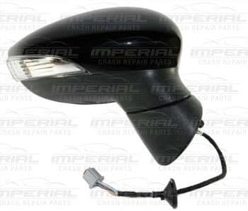 Ford Fiesta 5 Door MK7 2008-2012 Door Mirror Electric Heated Manual Fold Type With Primed Cover O/S