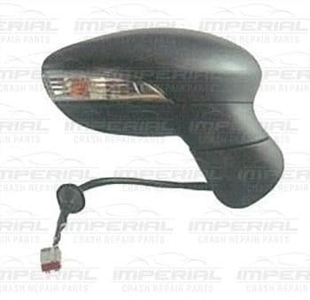 Ford Fiesta 5 Door MK7 2013 - 2017 Door Mirror Electric Heated Manual Fold Type With Black Cover O/S