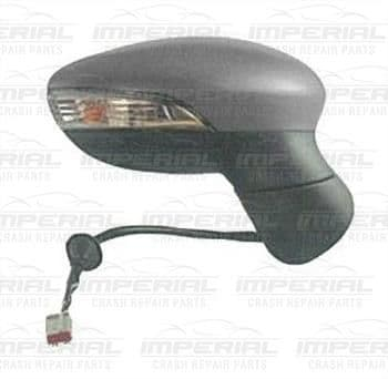 Ford Fiesta 5 Door MK7 2013-2017 Door Mirror Electric Heated Power Fold Type With Primed Cover O/S
