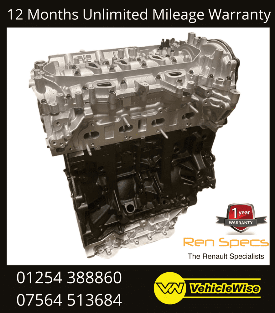Fully Reconditioned Engine Renault Master Vauxhall Movano 2.3dci M9T696 RWD