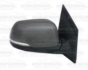 Kia Picanto 3dr 2015-2017 Door Mirror Elect Heat Power Fold Type  Primed Cover (With Rep Lamp) O/S