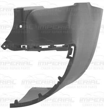 Peugeot Partner 2008 - 2012 Rear Bumper Outer Black Section (Long w Base Twin Door Models) Off Side
