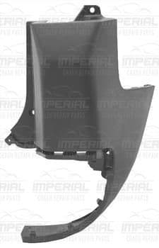 Peugeot Partner 2008 - 2012 Rear Bumper Outer Primed Section (Standard WB Tailgate Models) Off Side