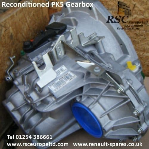 RECONDITIONED PK5072 GEARBOX 5 SPEED 1.9DCI , RENAULT ,  NISSAN, VAUXHALL