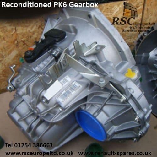RECONDITIONED PK6021 GEARBOX 6 SPEED , 1.9DCI , RENAULT , VAUXHALL , NISSAN