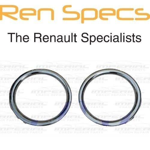 RENAULT CLIO IV - BRAND NEW FRONT BUMPER FOG LAMP SURROUND - Set of two - Chrome