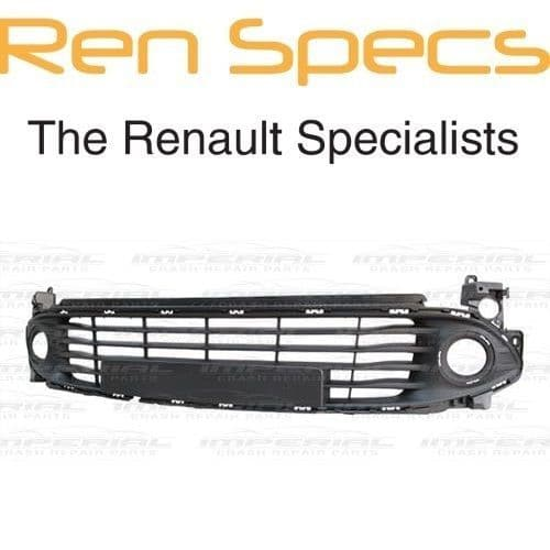 RENAULT CLIO IV - BRAND NEW FRONT BUMPER LOWER GRILLE - Not Primed