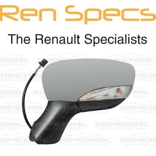 RENAULT CLIO IV - BRAND NEW LEFT DOOR MIRROR Electric & Heated - Manual Fold