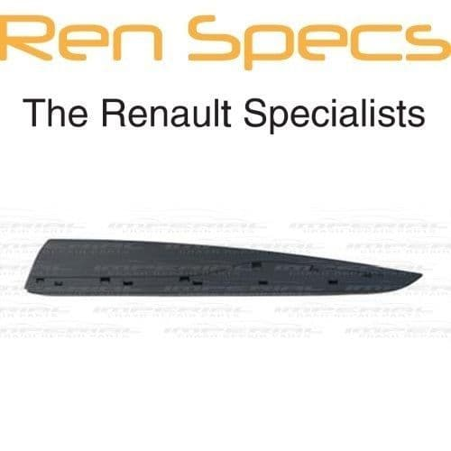 RENAULT CLIO IV - BRAND NEW LEFT REAR DOOR MOULDING - With Holes - Black