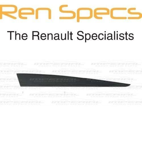 RENAULT CLIO IV - BRAND NEW RIGHT FRONT DOOR MOULDING - No Holes Type - Black