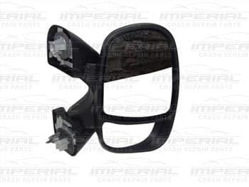 Renault Trafic 2001-2006 Door Mirror Manual Type With Black Cover Offside