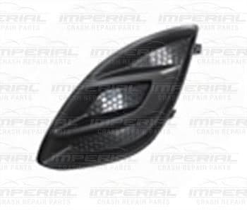 Vauxhall Corsa 2011-2014 3 Door Front Bumper Grille Outer Section - No Lamp Hole N/S