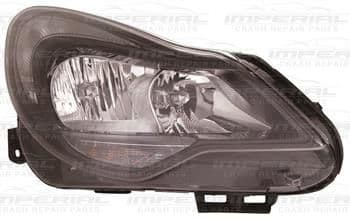 Vauxhall Corsa 2011-2014 3 Door Headlamp Black Type (Not Adaptive Lighting) O/S