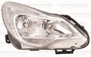 Vauxhall Corsa 2011-2014 3 Door Headlamp Chrome Type (Not Adaptive Lighting) O/S