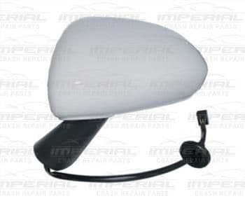 Vauxhall Corsa 2011-2014 3 Door Mirror Electric Not Heated Type With Primed Cover (Black Arm) N/S
