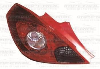 Vauxhall Corsa 2011-2014 3 Door Rear Lamp Red & Clear (Standard Models) Near Side
