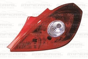 Vauxhall Corsa 2011-2014 3 Door Rear Lamp Red & Clear (Standard Models) Off Side