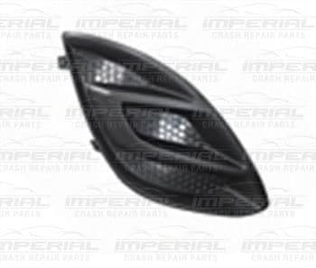 Vauxhall Corsa 2011-2014 5 Door Front Bumper Grille Outer Section - No Lamp Hole O/S