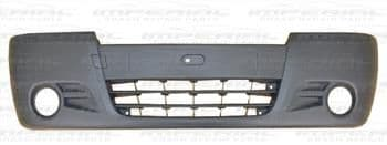 Vauxhall Vivaro 2007-2014 Front Bumper With Lamp Holes - With Fog Lamp Brackets - Textured