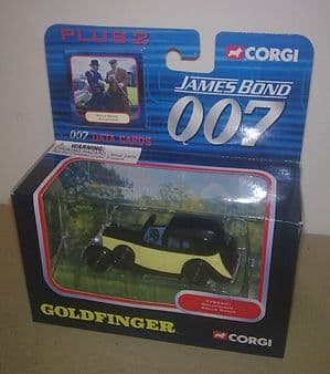 2003 James Bond 007 Die Cast Model Corgi Rolls Royce Goldfinger Gold Finger MIB Crystal Plinth