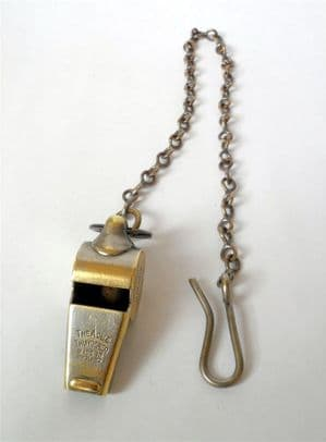 Vintage Birmingham & Midland Motor Omnibus Co Whistle c/w Chain 1930s BMMO Escargot Type Conductors
