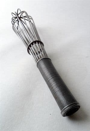 Antique 19th Century Kitchen Utensil Wire Work Steel French Hand Whisk Circa 1880s Wirework