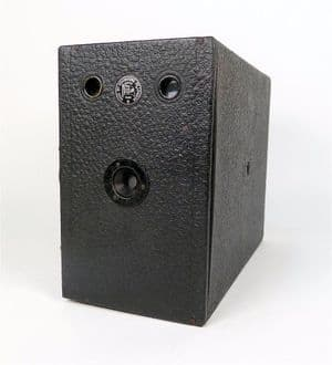 """Antique Camera Large Box Ensign Houghtons Ltd London 2 1/2"""" Roll Film Circa 1910 Side Opening"""