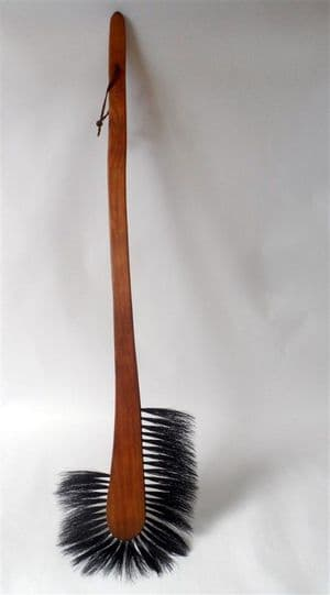 Antique Early 20th Century Long Handled Furniture Brush Cleaning Display Household Cleaner Dusting