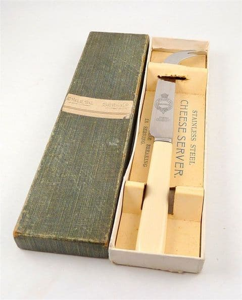 Antique Kitchen Boxed Best English Cutlery Firth Stainless Sheffield Cheese Knife Server 1926 Reg No