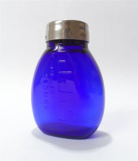 Antique Medical Cobalt Blue Henry Beatson Clark Rotherham Glass Sputum Flask Tuberculous Spittoon