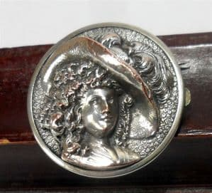Antique Silver Wests & Co Patent The Duchess Solitaire Bachelor Button Pin Brooch George West